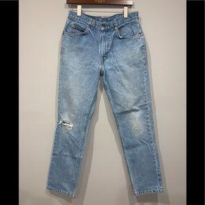 Vintage Levi's High Waist Orange Tab Jeans 32X30